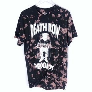 Death Row Records Bleached Graphic Tee Size Large